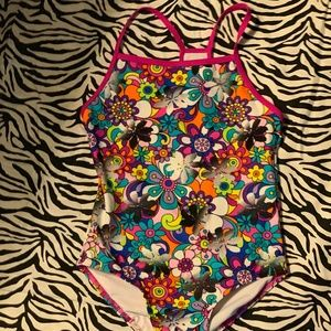 Girls Speedo one piece swim suit